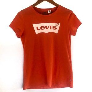 Levi's Classic logo T-shirt Orange Size Small